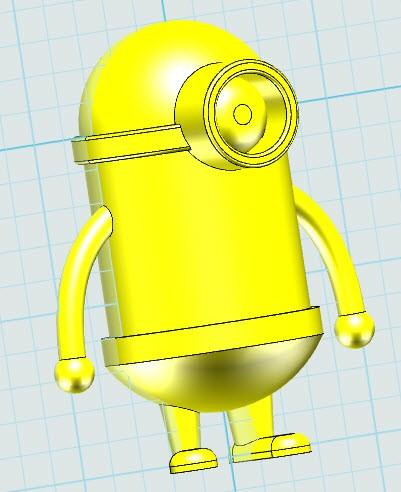 "3done小黄人创意课件:把""可爱""打印出来"