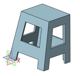 4,插入草图,以xz为基准面,绘制凳子侧面轮廓,如图5所示.