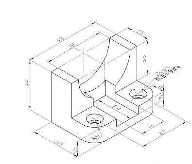 cad机械制图基础_CAD机械制图应用基础之三视图的绘制(一)-CAD常见问题-广州中望 ...