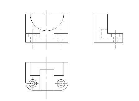 cad机械制图基础_CAD机械制图应用基础之三视图的绘制(二)-CAD常见问题-广州中望 ...