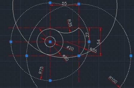 怎么用CAD绘制风扇扇叶?