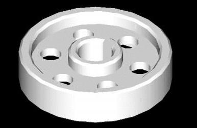 如何用CAD绘制三维立体齿轮?