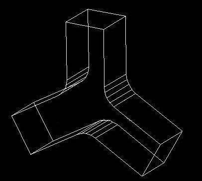 如何用CAD绘制一个三通管?